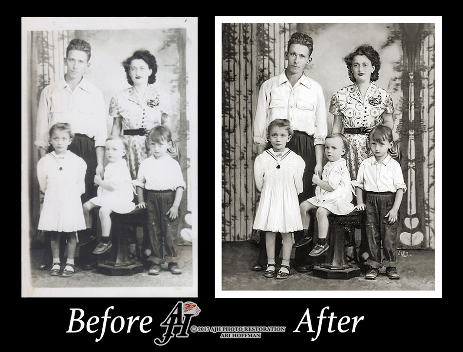 Family Photo Before and After