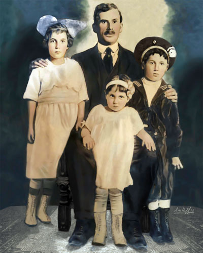 1920's family after